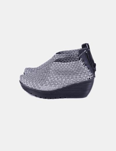 Chaussure à talon argentée compensé NoName