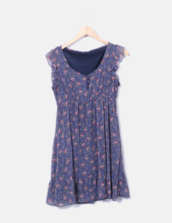 e361ffc7e Vestido floral online azul Pimkie fluido baratos marino Vestidos 4qqwS67n