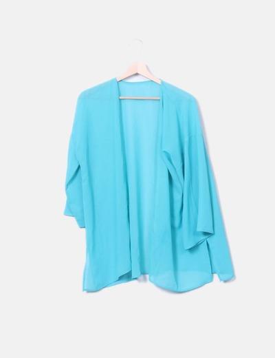 Kimono semitransparente azul
