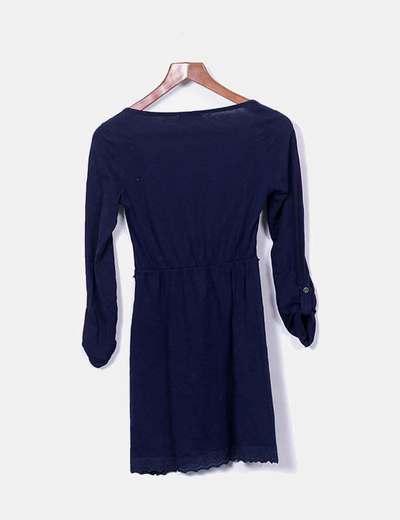 Vestidos azul marino de manga larga