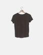 Camiseta manga corta taupé Zara