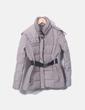 Abrigo beige con capucha Mango