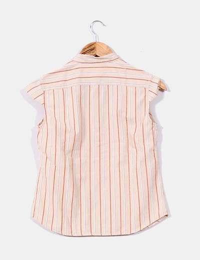 Blusa beige rayas verticales