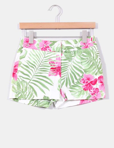 Shorts estampado tropical Cortefiel