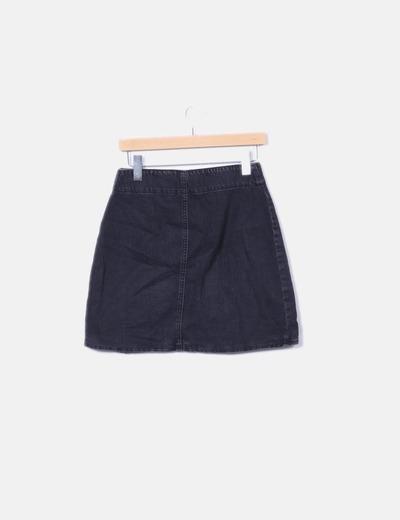0e0a2c546 Minifalda denim negra