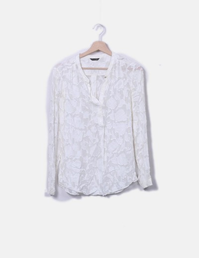 Blusa beige texturizada