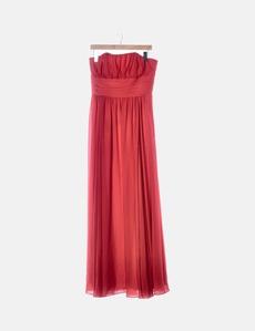 b95078ba3 Maxi vestido de fiesta gasa rojo Easy Wear