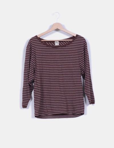 Camiseta manga larga estampado rayas XDYE