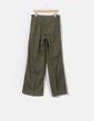 Pantalón pata ancha verde khaki  Zara