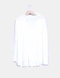 Camiseta blanca oversize con bordado Natura