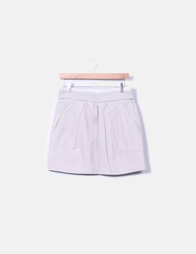 Minifalda texturizada Sfera