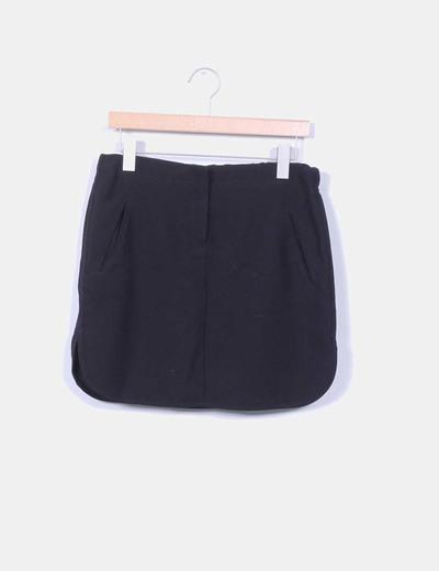 Mini falda negra Mango