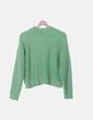 Jersey tricot verde Bershka