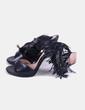 Sandales noires frangées Ezzio