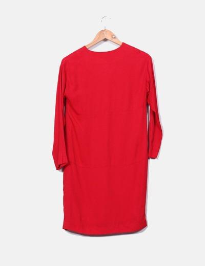 Vestido rojo manga larga