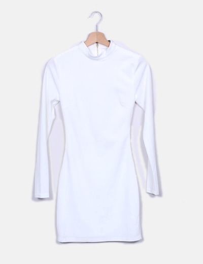 Vestido blanco escote espalda Missguided