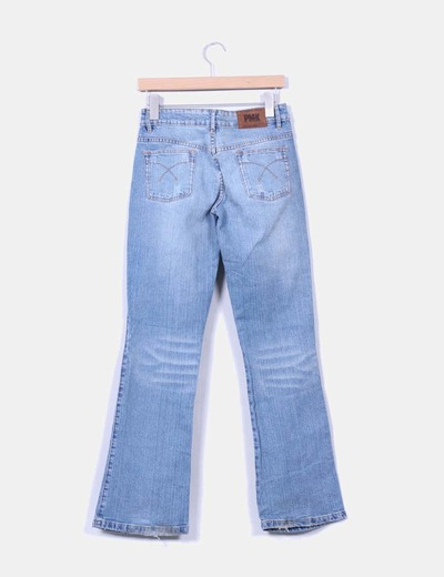 Jeans denim bootcut azul medio