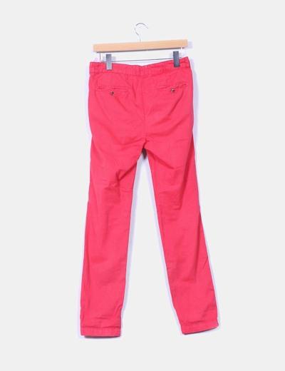 Pantalon chino rosa