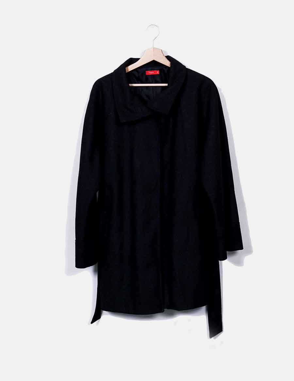 9ce9cc03d Abrigos Chaquetas y Abrigo Mujer baratos de con cinturón Tissaia online  negro SwqWHPUR ...