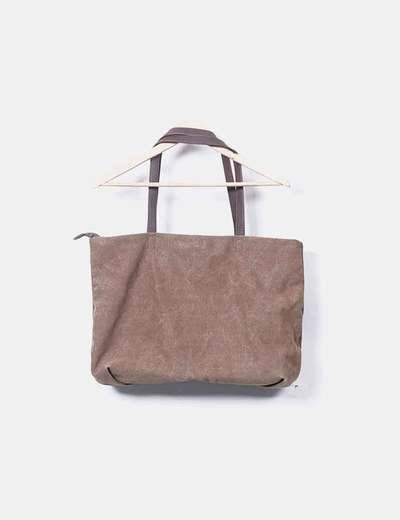d5740ebb4b1be Misako Bolso shopper marron (descuento 74%) - Micolet