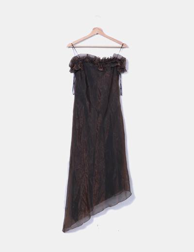 Iridescent brown dress C&A