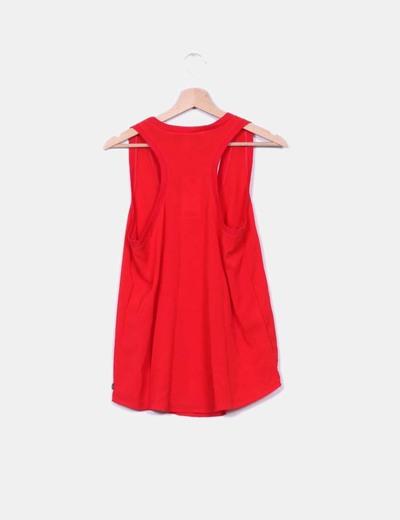 Blusa tirantes roja