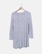 Vestido tricot gris manga larga Pull&Bear