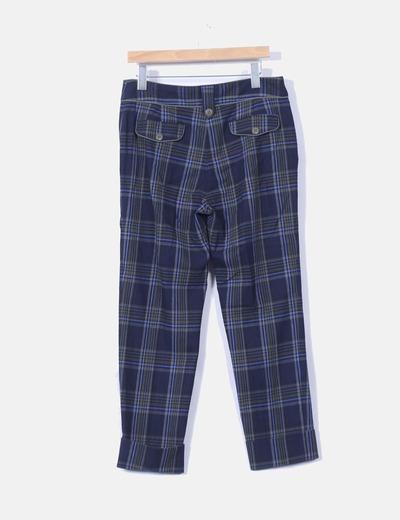 Pantalon azul de cuadros