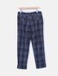 Pantalón azul de cuadros Tintoretto
