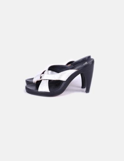 Sandales plate argentées -forme Farrutx