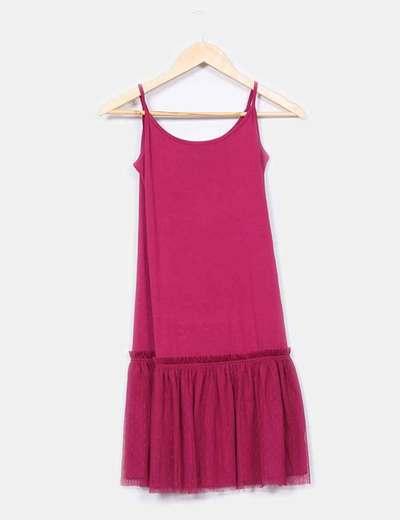 Mini vestido fucsia falda tul  Mamatayoe