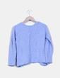 Tricot azul texturizado con estampado Atmosphere