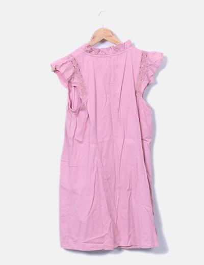 187e34516e Vero Moda Vestido rosa com detalhes em crochet (desconto de 71%) - Micolet