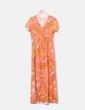 Maxi vestido naranja estampado NoName
