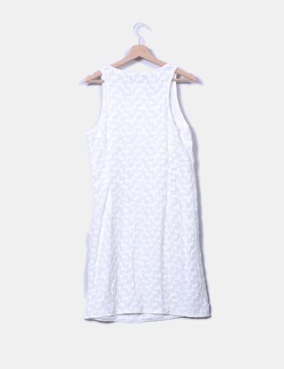 Vestido crudo texturizado floral