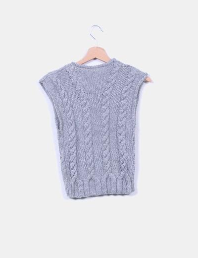 Chaleco lana gris