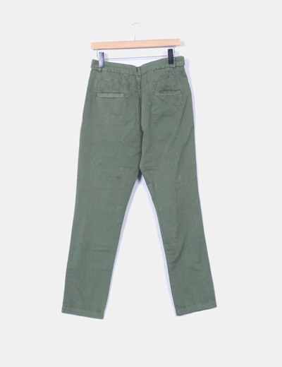 Pantalon verde caqui