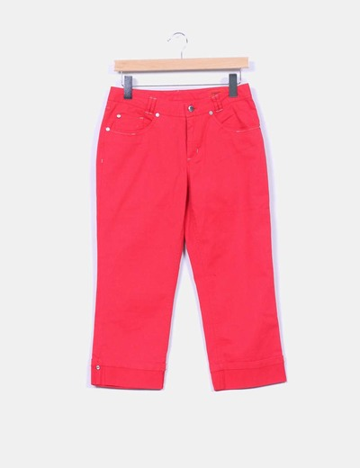 Pantalón pirata rojo Kleymac