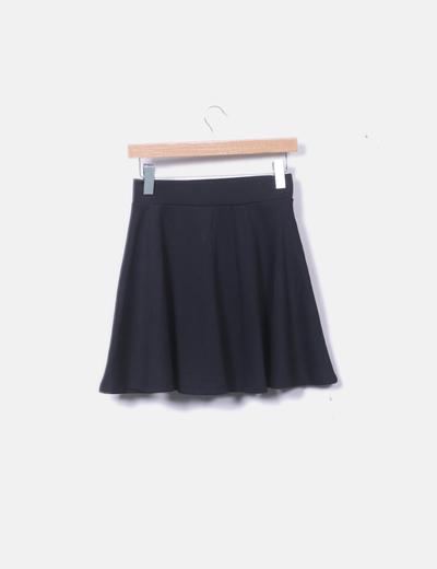 Falda negra de algodón