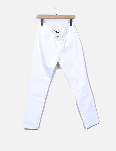 Pantalón denim blanco skinny fit Tintoretto