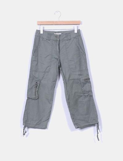 Pantalón khaki cargo culotte Por Qué?