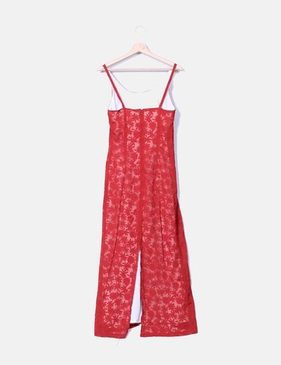 Maxi vestido rojo de tirantes