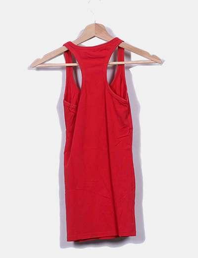 68df0741451e3 Bershka Camiseta nadadora roja (descuento 60%) - Micolet