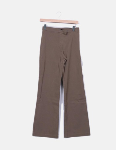 Pantalon kaki vert droit Vero Moda