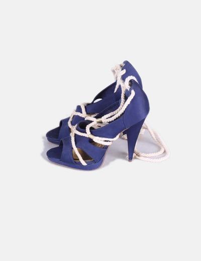 Sandalia azul marina cordones tipo cuerda H&M