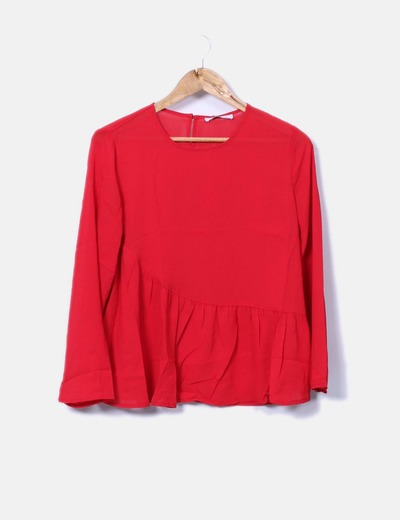 Blusa roja peplum lm