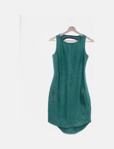 Vestido verde escote espalda