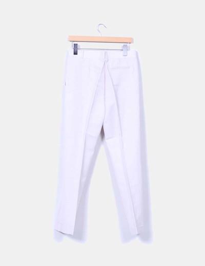 Pantalon beige de pinzas