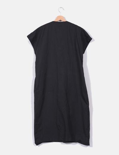 Vestido camisero negro el corte ingles