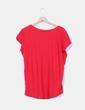Camiseta roja de manga corta estampada H&M